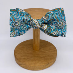 Liberty of London Bow Tie in Teal Paisley