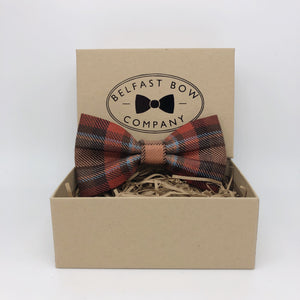County Down Ulster Tartan Bow Tie by the Belfast Bow Company