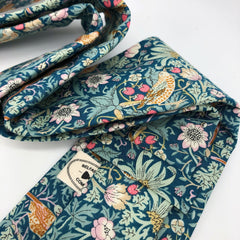 Liberty of London Tie in Green Birds Strawberry Thief by the Belfast Bow Company