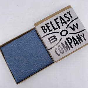 Islay Tweed Pocket Square in Blue by the Belfast Bow Company