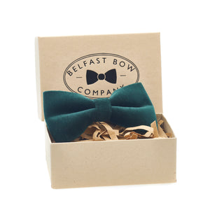 Green Velvet Dicky Bow Tie by the Belfast Bow Company