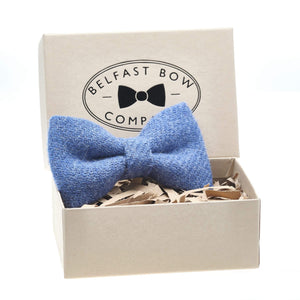 Harris Tweed Bow Tie in Slate Blue