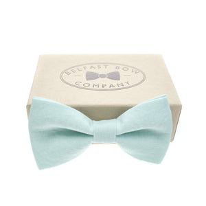 Irish Linen Bow Tie in Mint Green by the Belfast Bow Company Gift Boxed