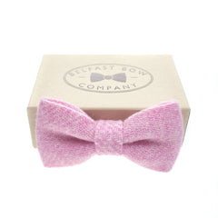 Harris Tweed Bow Tie in Pink by the Belfast Bow Company