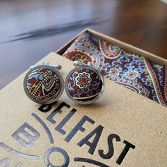 Liberty of London Silk Cufflinks in Paisley Park