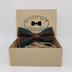County Monaghan Ulster Tartan Bow Tie by the Belfast Bow Company