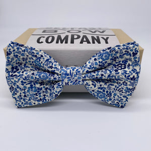 Liberty of London Bow Tie in Navy Ditsy Floral by the Belfast Bow Company
