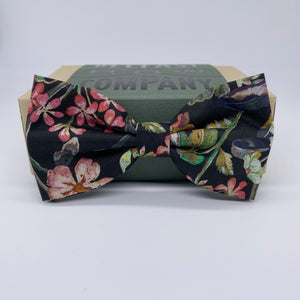 Liberty of London Bow Tie on Black Vintage Floral by the Belfast Bow Company