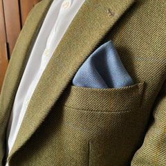 Islay Tweed Pocket Square Handkerchief in Blue by the Belfast Bow Company
