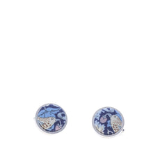 Liberty of London Cufflinks in Navy Birds Print by the Belfast Bow Company
