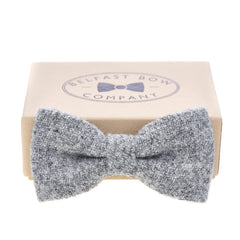 Harris Tweed Bow Tie in Grey by the Belfast Bow Company