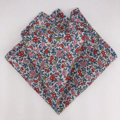 Liberty of London Pocket Square in Red & Blue Floral
