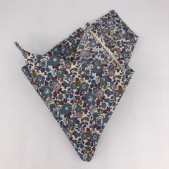 Liberty of London Pocket Square in Floral Fig