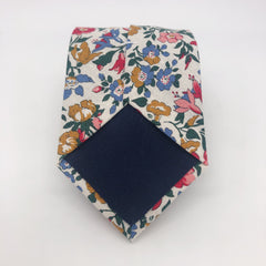 Liberty of London Tie in Pink, Blue and Green Floral by the Belfast Bow Company