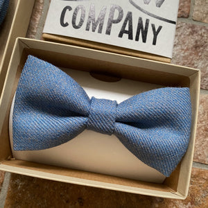 Islay Tweed Bow Tie in Blue by the Belfast Bow Company