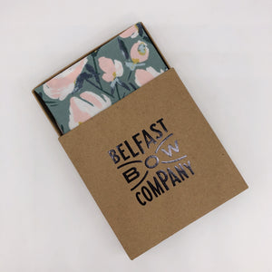 Boho Floral Pocket Square in Sage Green by the Belfast Bow Company