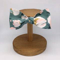 Boho Floral Self-Tie Bow Tie in Sage Green by the Belfast Bow Company