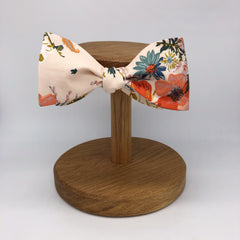 Boho Floral Self-Tie Bow Tie in Nude by the Belfast Bow Company