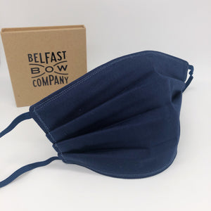 Washable Cotton Face Covering with Three Layers by the Belfast Bow Company