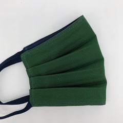 Oxford Cotton Face Mask in Dark Green