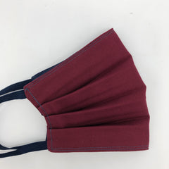 Oxford Cotton Face Mask in Burgundy