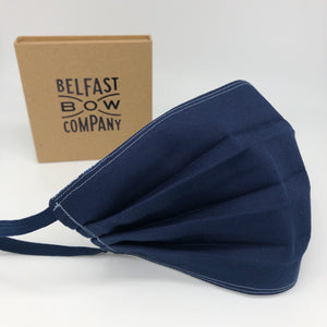 Men's Face Covering in Navy Cotton by the Belfast Bow Company