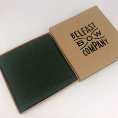Irish Linen Pocket Square in Brunswick Green by the Belfast Bow Company