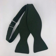 Irish Linen Self Tie Bow Tie in Brunswick Green by the Belfast Bow Company