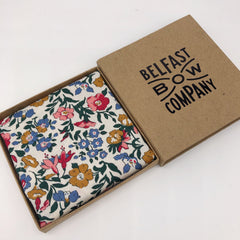 Liberty of London Pocket Square in Pink, Blue, Green & Mustard Floral