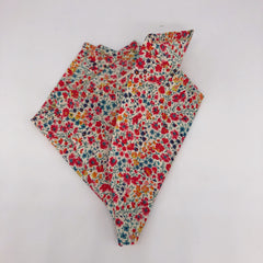 Liberty of London Pocket Square in Orange, Navy & Yellow Floral