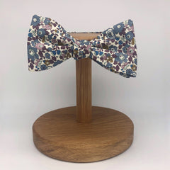 Liberty of London Self Tie Bow Tie in Fig Floral by the Belfast Bow Company