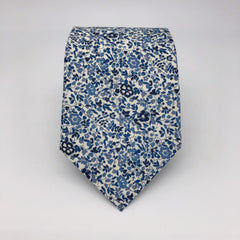 Liberty of London Tie in Navy and White Floral by the Belfast Bow Company