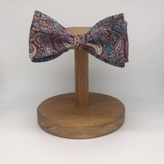 Liberty of London Self-Tie Bow Tie in Burgundy Paisley by the Belfast Bow Company