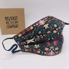 Liberty of London Face Mask in Forbidden Fruit by the Belfast Bow Company