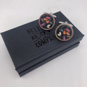Liberty of London Cufflinks in Forbidden Fruit by the Belfast Bow Company