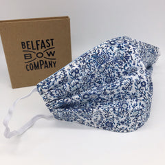 Liberty Face Mask in Blue & White Floral