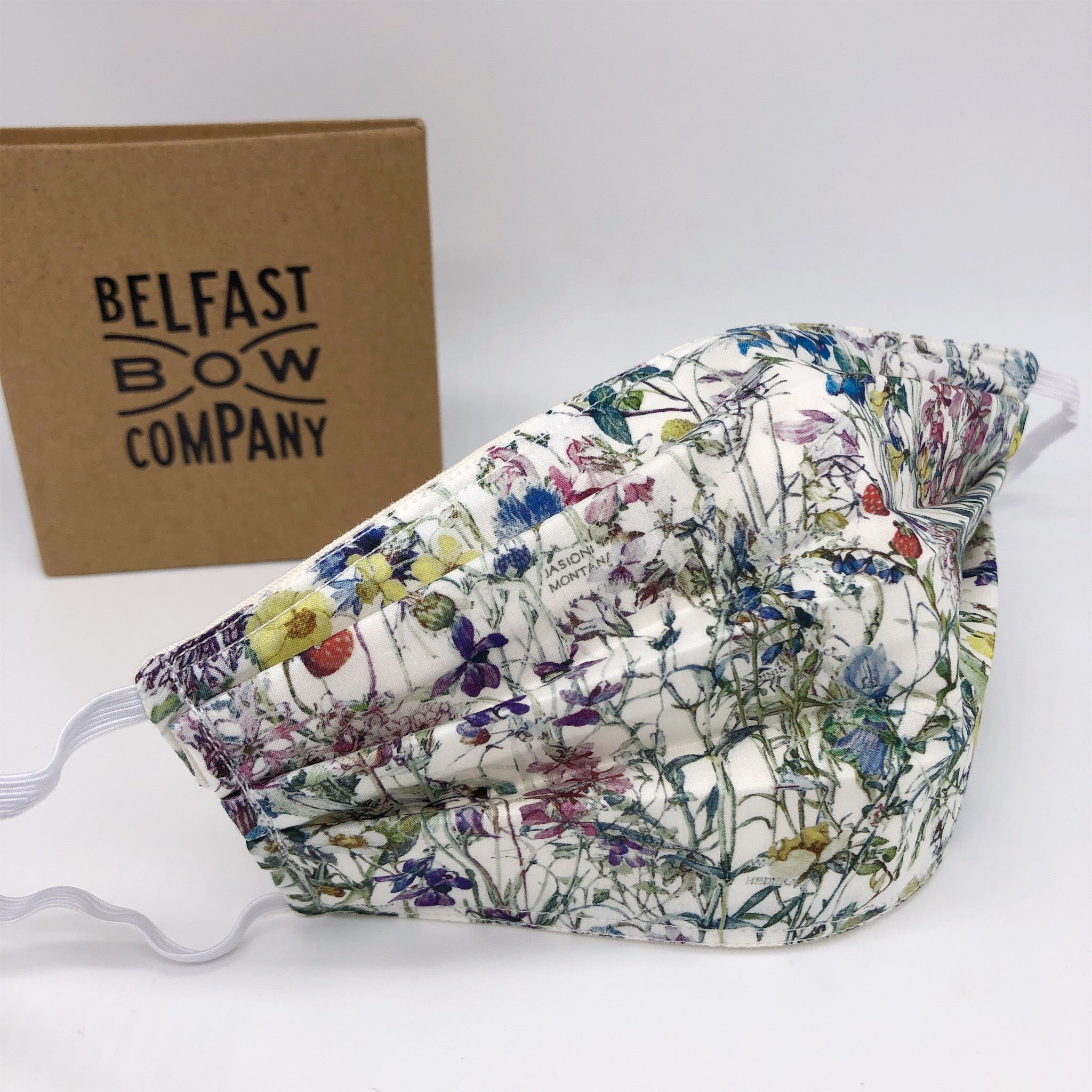 Liberty of London Face Mask in Wildflowers by the Belfast Bow Company
