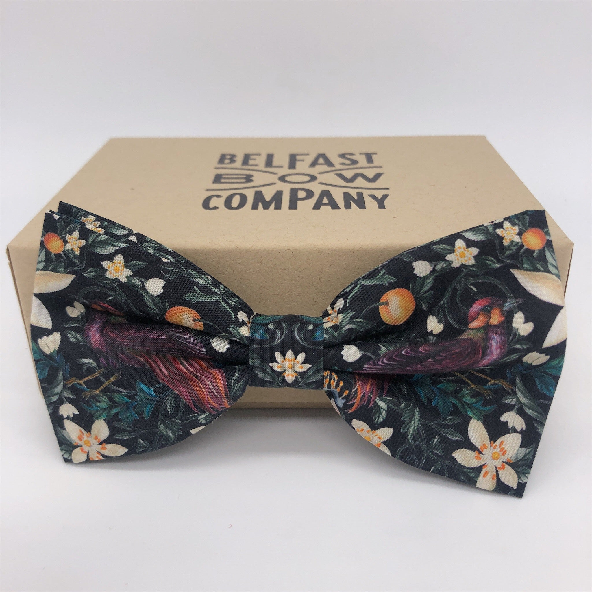 Liberty of London Bow Tie in Forbidden Fruit by the Belfast Bow Company
