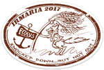 Irmaria Hurricane Relief Euro Oval Sticker