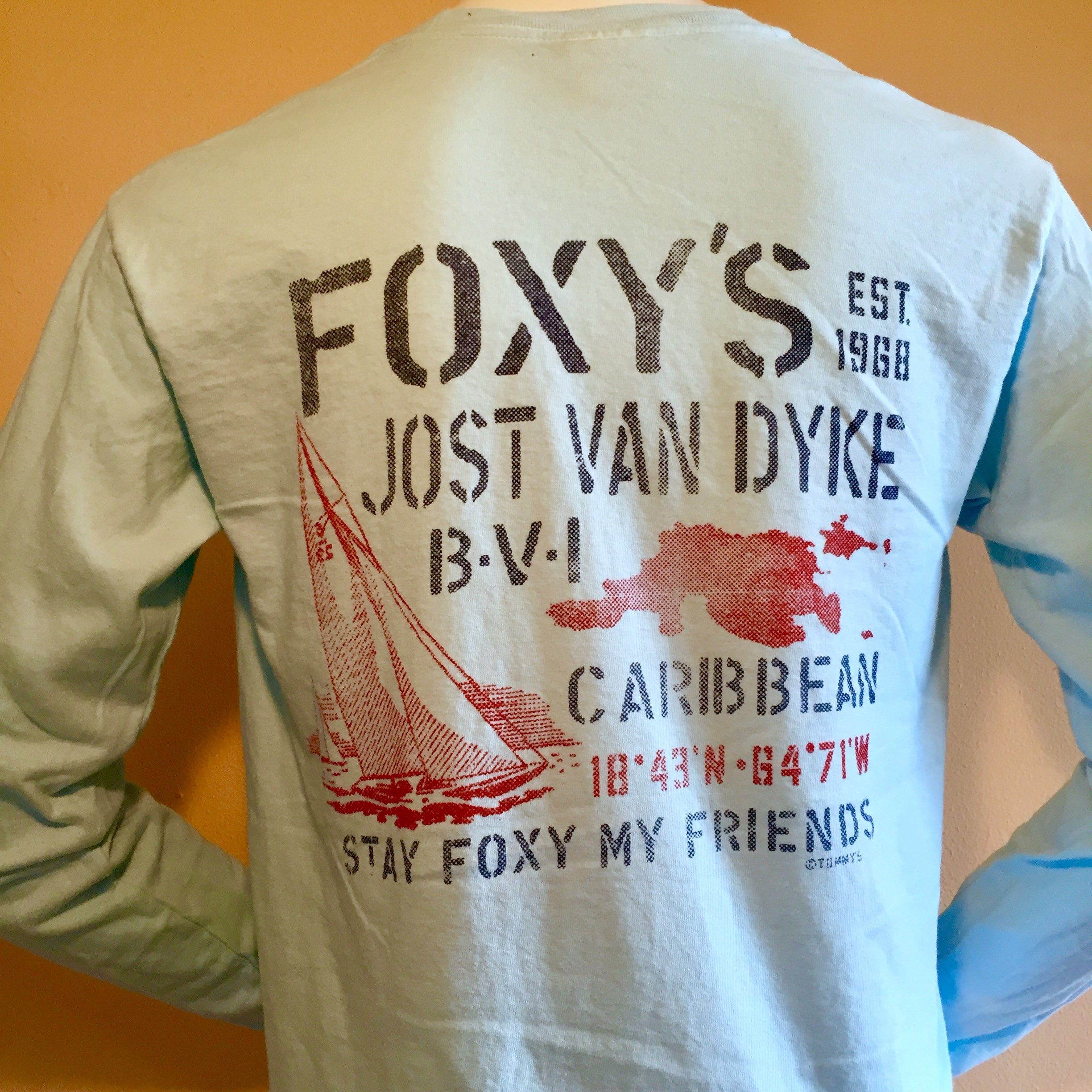 Foxy's 'Stencil Sail' Long Sleeve Tee