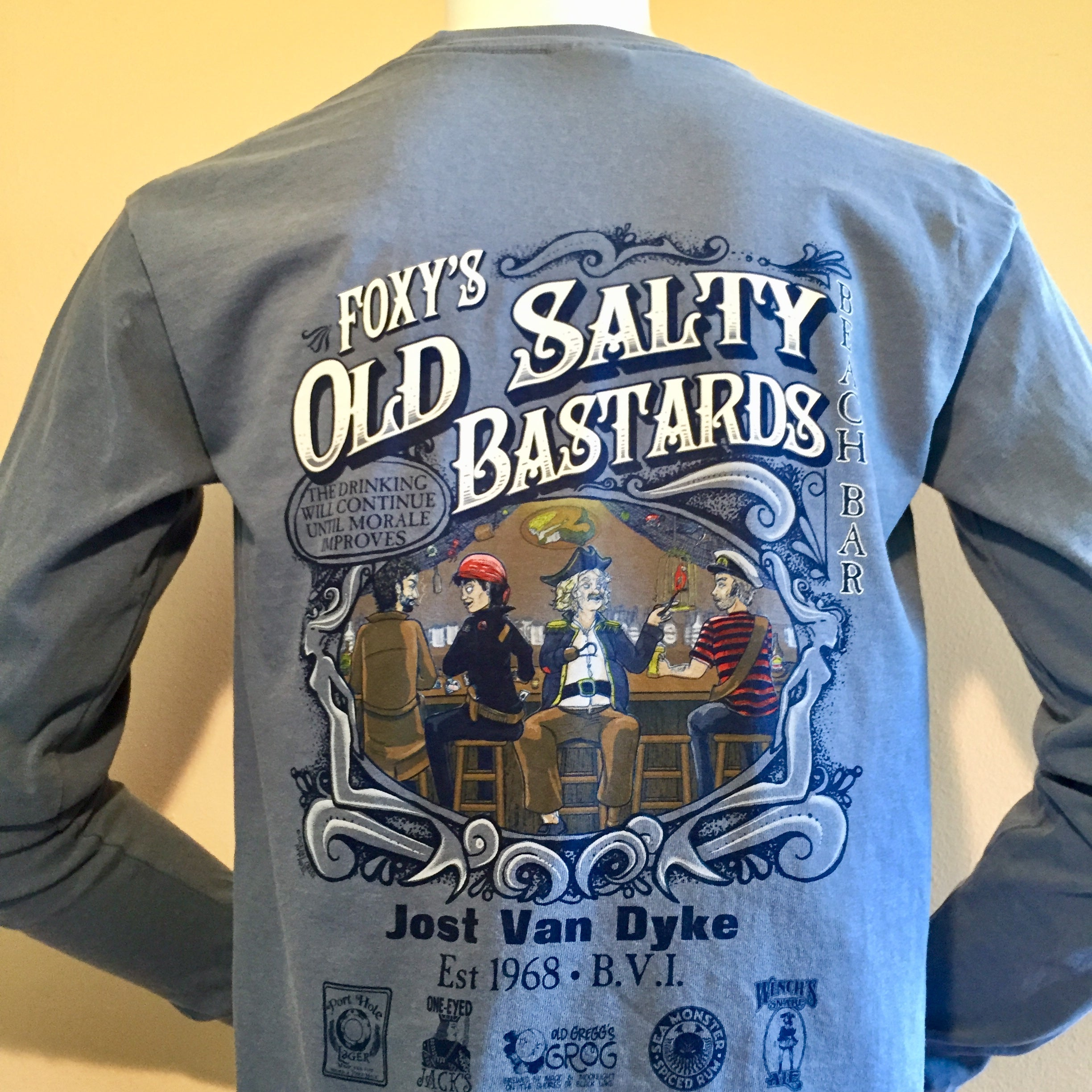 Foxy's 'Old Salty Bs' Long Sleeve Tee