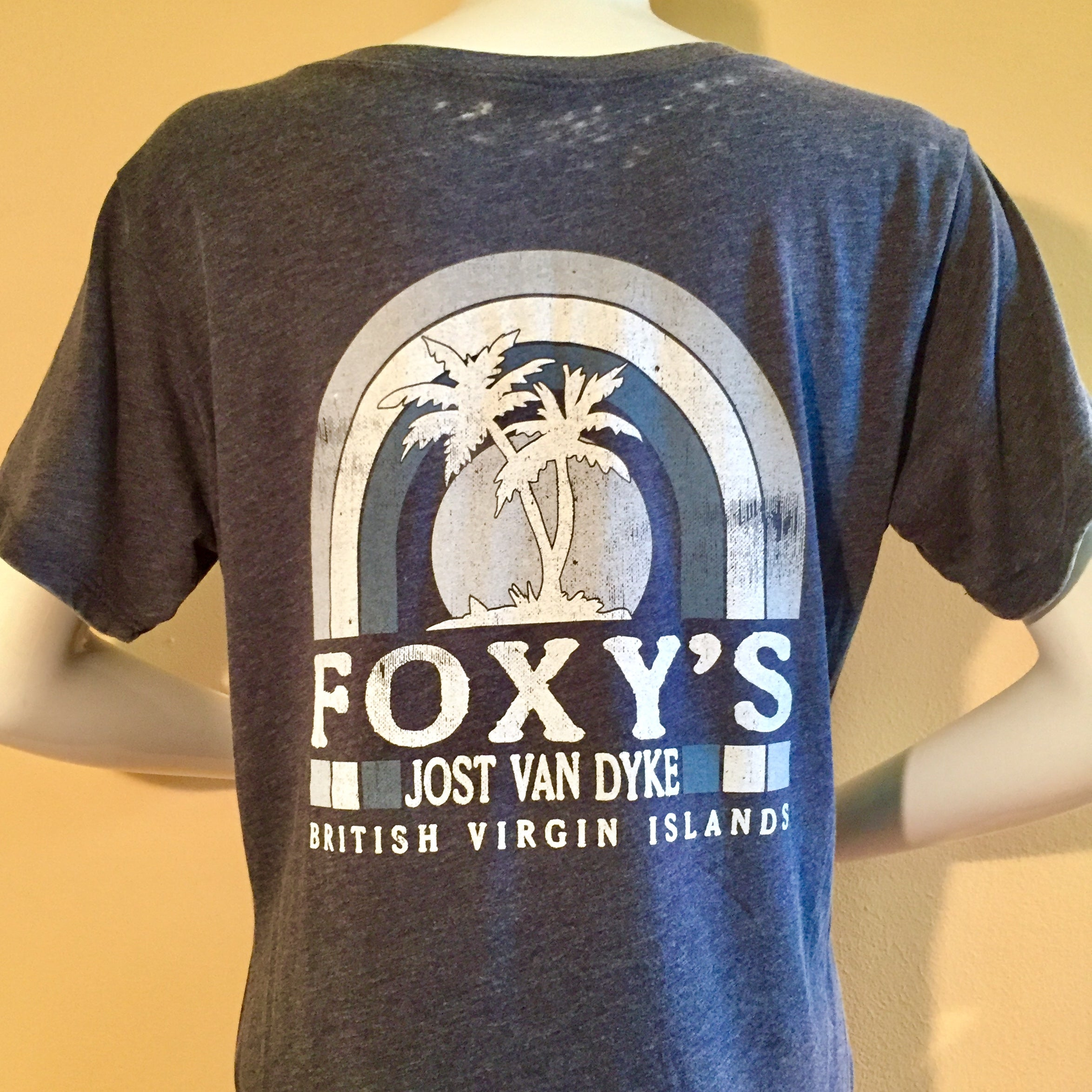 NEW!! Foxy's 'Retro Palm' Ladies V-Neck Tee
