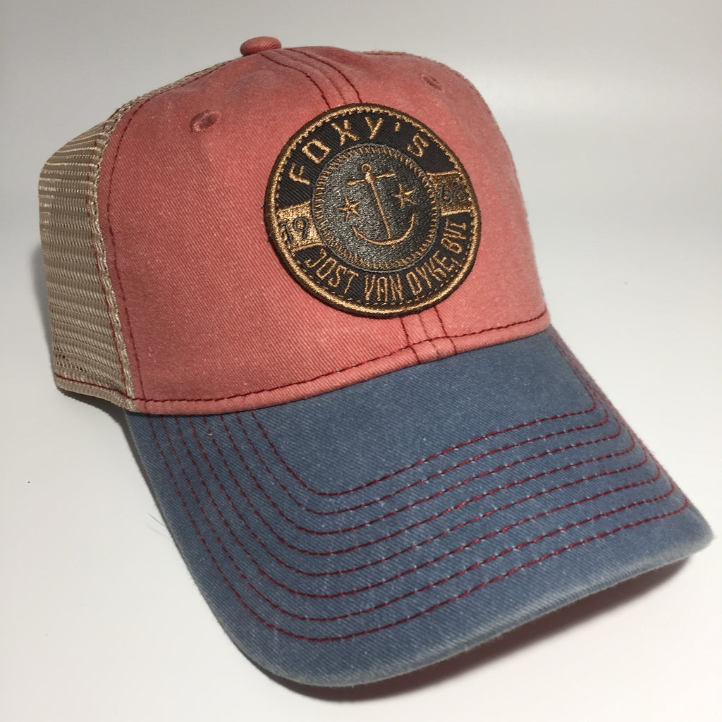 Foxy's 'Anchor & Stars' Trucker Cap/Red-Denim