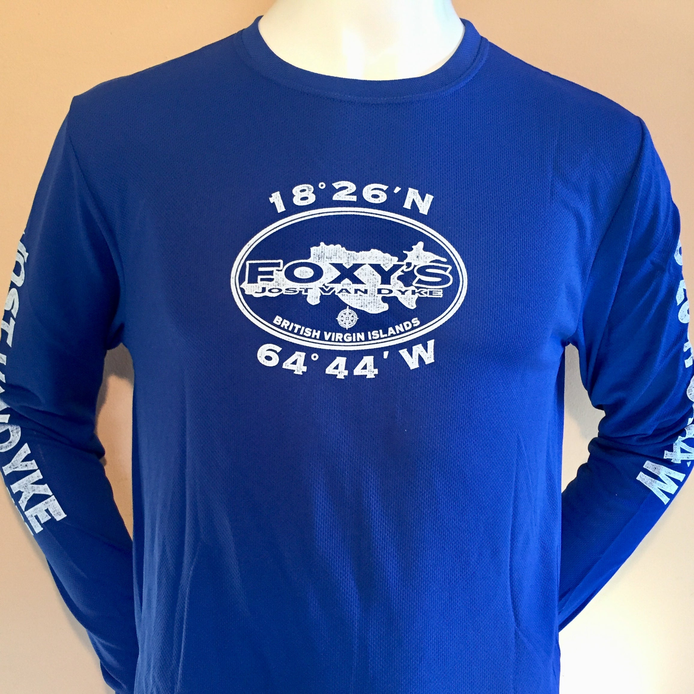 NEW! Foxy's Oval Map Long Sleeve Performance Tee