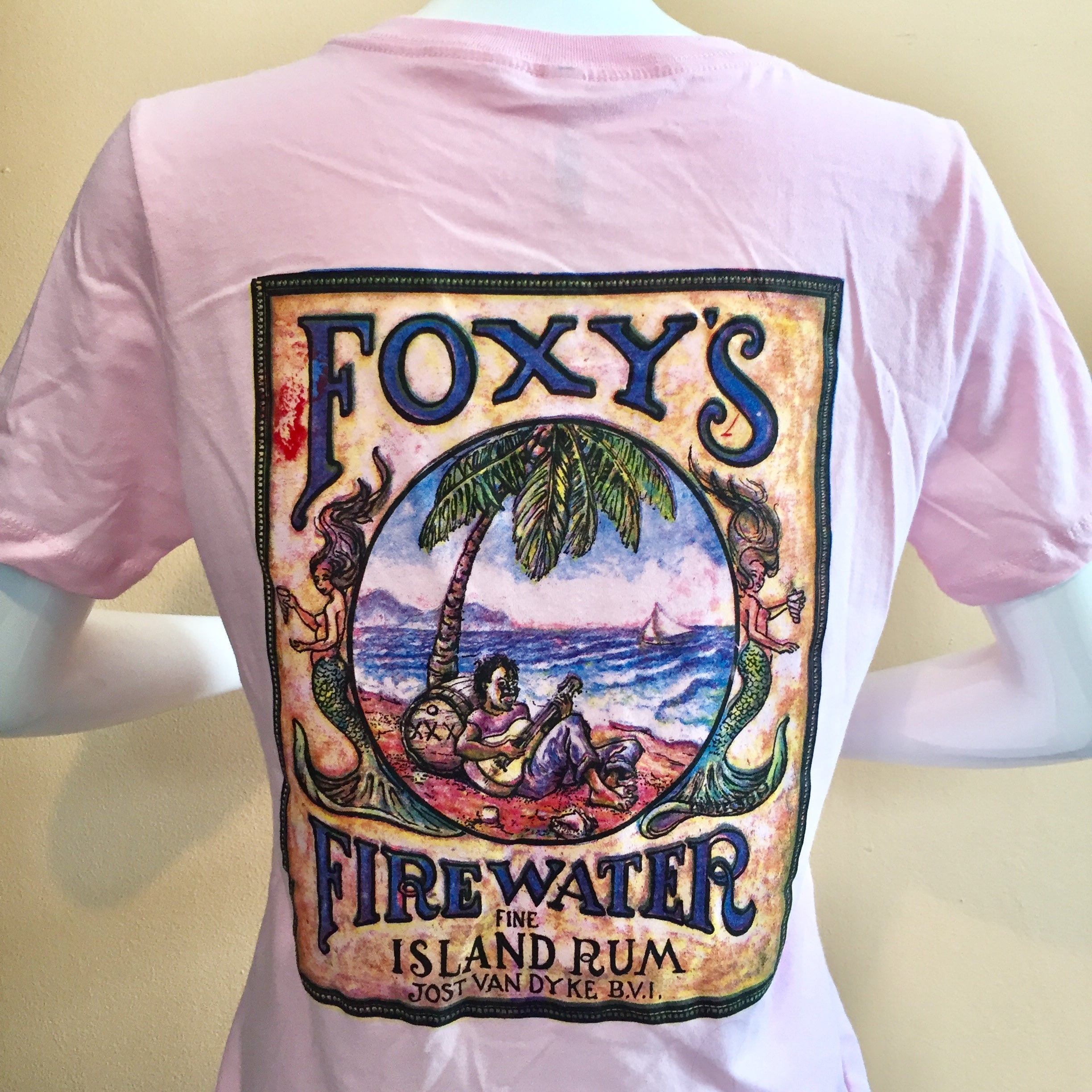Foxy's 'Firewater' Ladies Relaxed V-neck Short Sleeve Tee
