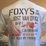 Foxy's Stencil Sail Long Sleeve Tee