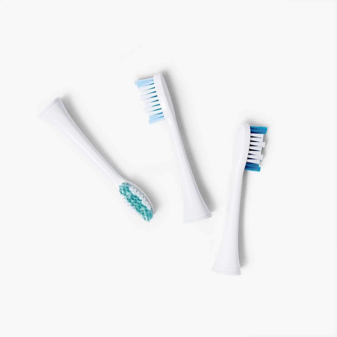 3-pack of large replacement brush heads | for Elements Sonic Toothbrush!