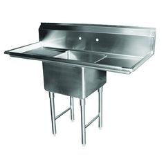 "Serv-ware E1CWP18182-18 1 Compartment Sink 18x18"" - 2 Drainboards"