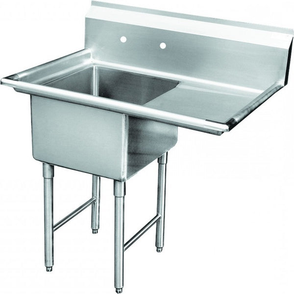 "GSW SEE18181R 1 Compartment Sink 18x18"" - Right Drainboard"