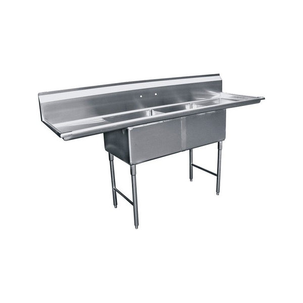 GSW SE18182D 2 Compartment Sink - 2 Drainboards